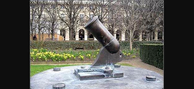 Petit canon du Palais Royal site du Centre des Monuments Nationaux