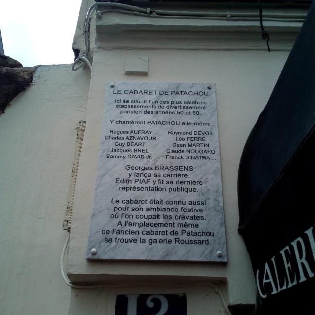Le Cabaret de Patachou Montmartre Paris