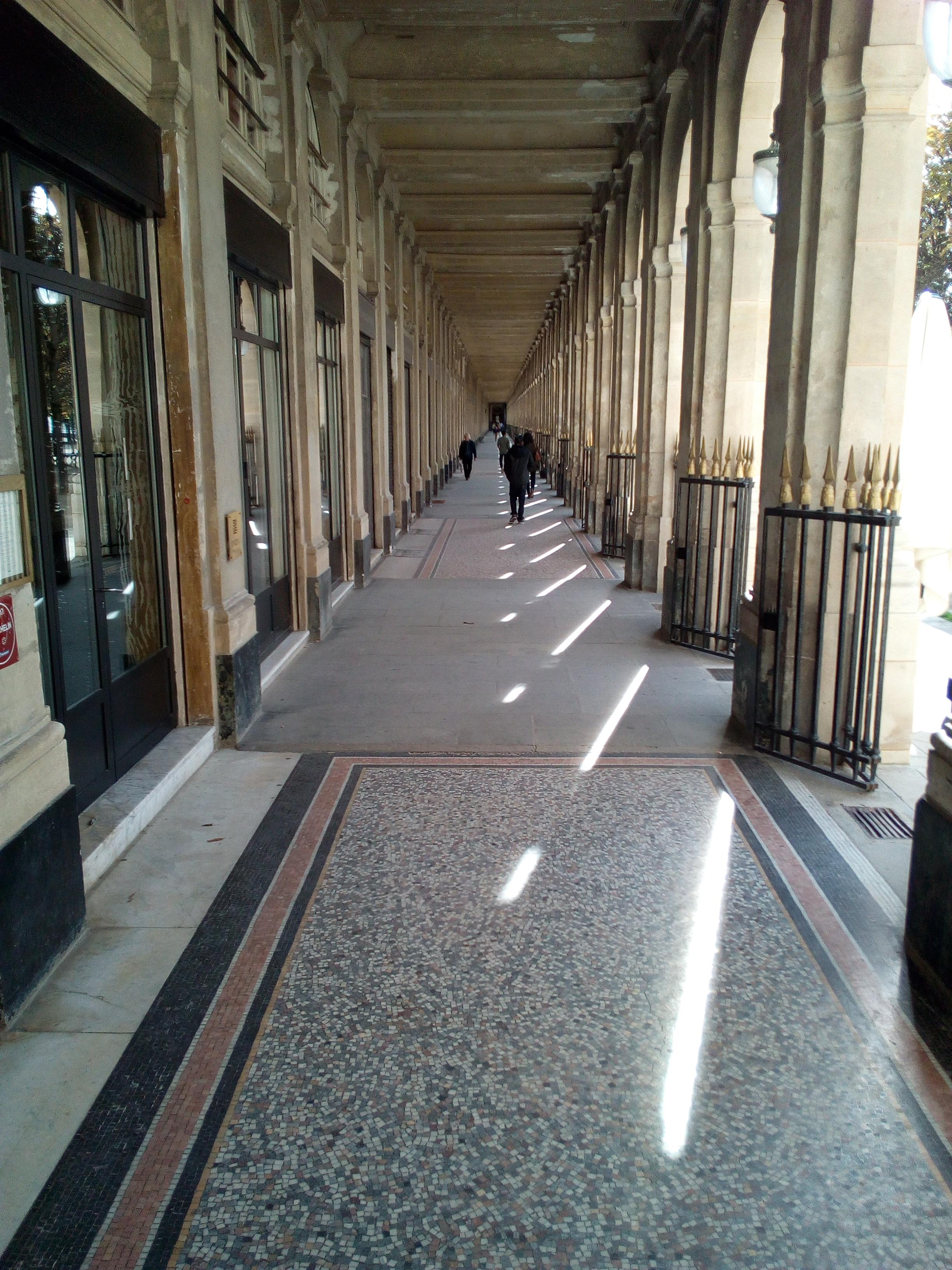 Les galeries du Palais-Royal à Paris