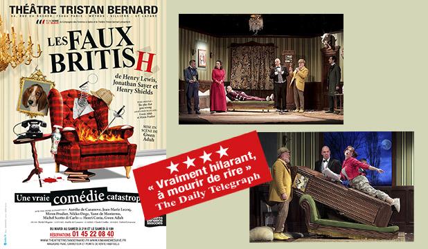 Les Faux British affiche Théâtre Tristan Bernard