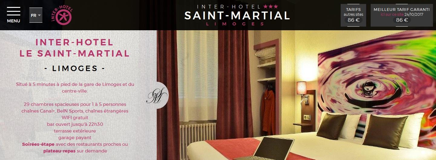 Hotel Saint-Martial Limoges le site internet