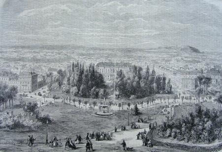Le début des Champs-Elysées vers 1765