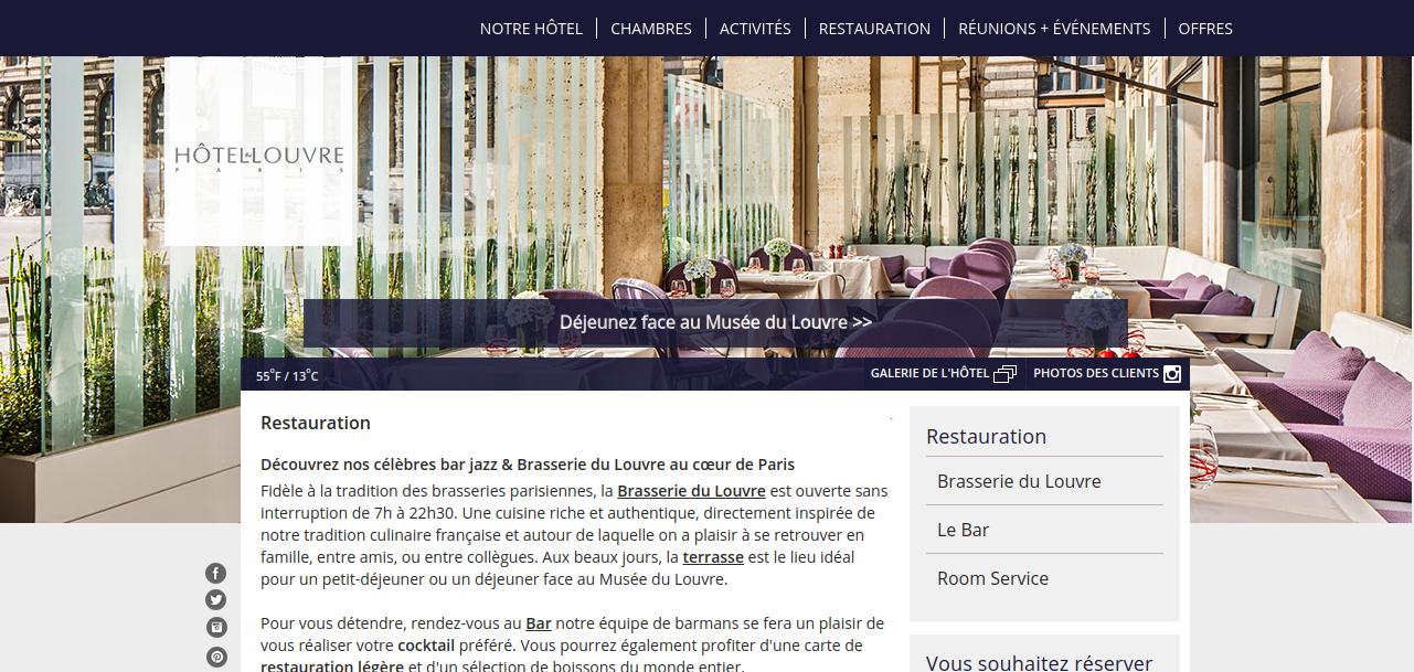 Site Brasserie du Louvre