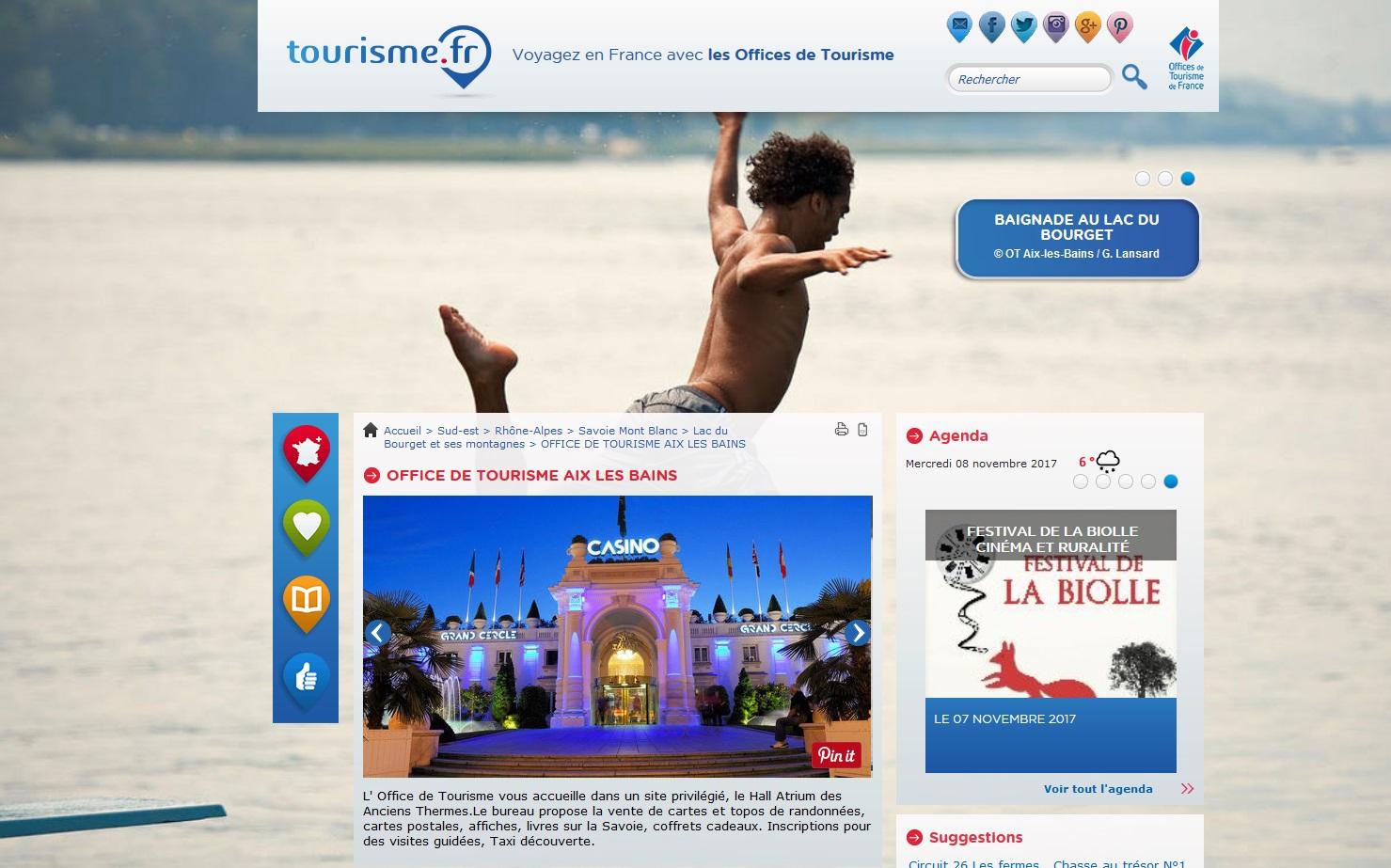 Office de Tourisme Aix-les-Bains Savoie