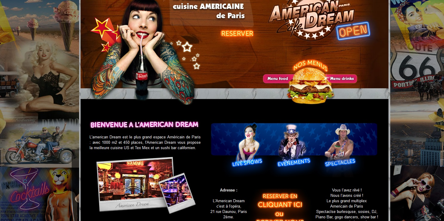 Américan dream, le site