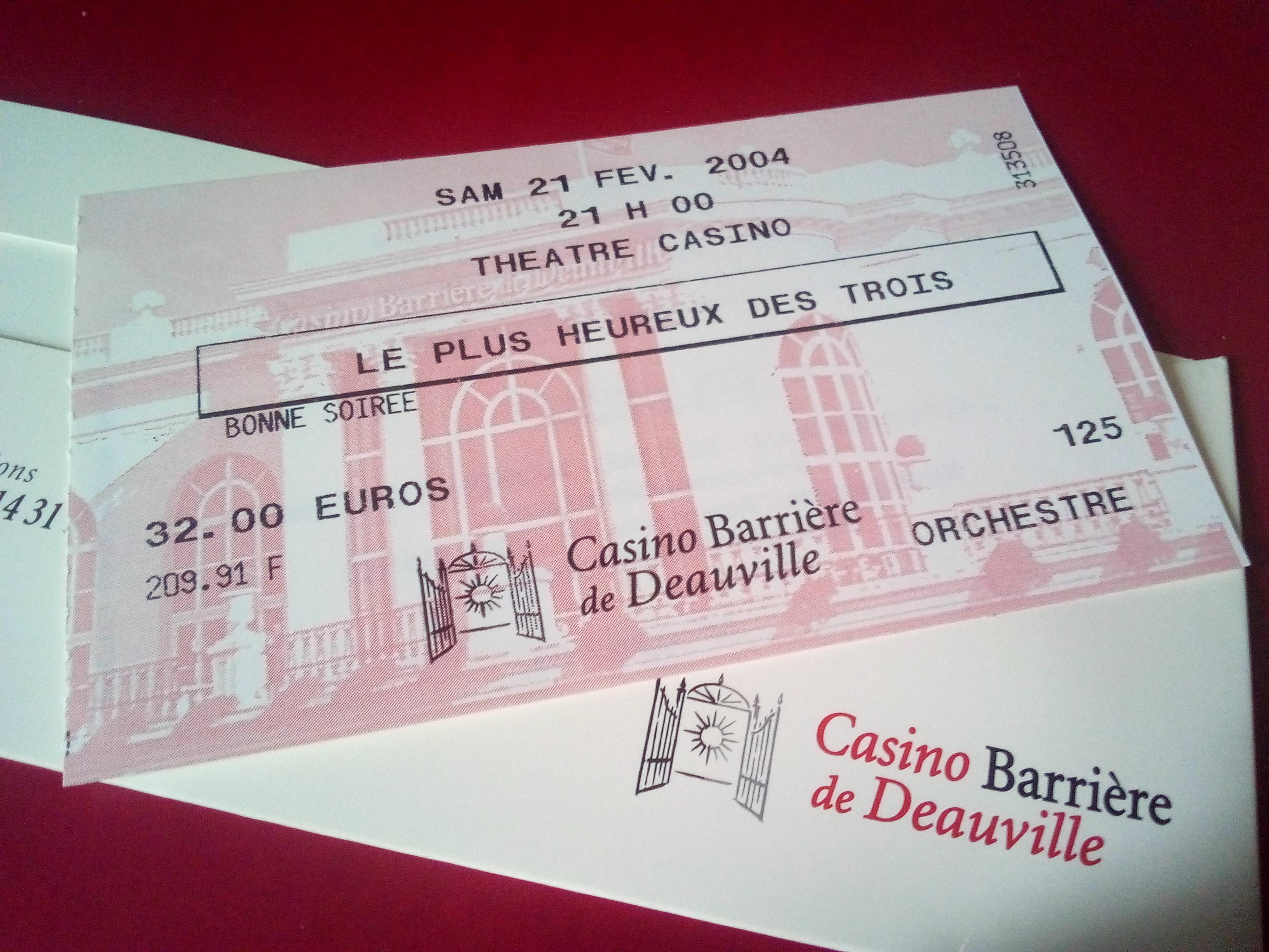 Le Plus Heureux des Trois, pièce d'Eugène Labiche, avec Pierre Bellemare, Deauville 2004