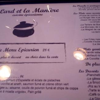 Lard et la Manière Clermont Ferrand