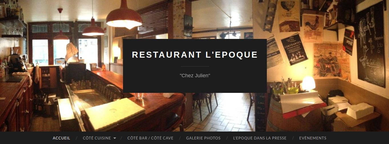 Chez Julien, Restaurant l'Epoque à Paris