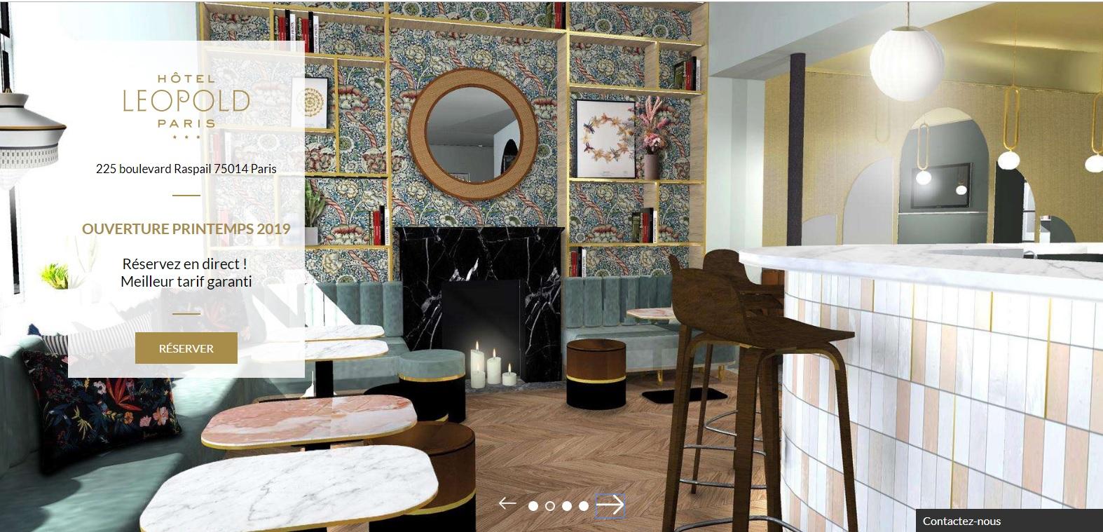 L'hôtel Léopold remplace l'Hôtel de la Paix Montparnasse depuis le printemps 2019