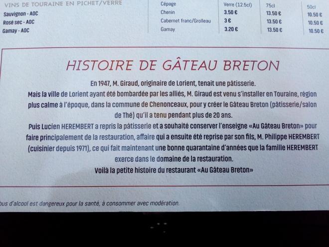 Le Gâteau Breton à Chenonceaux