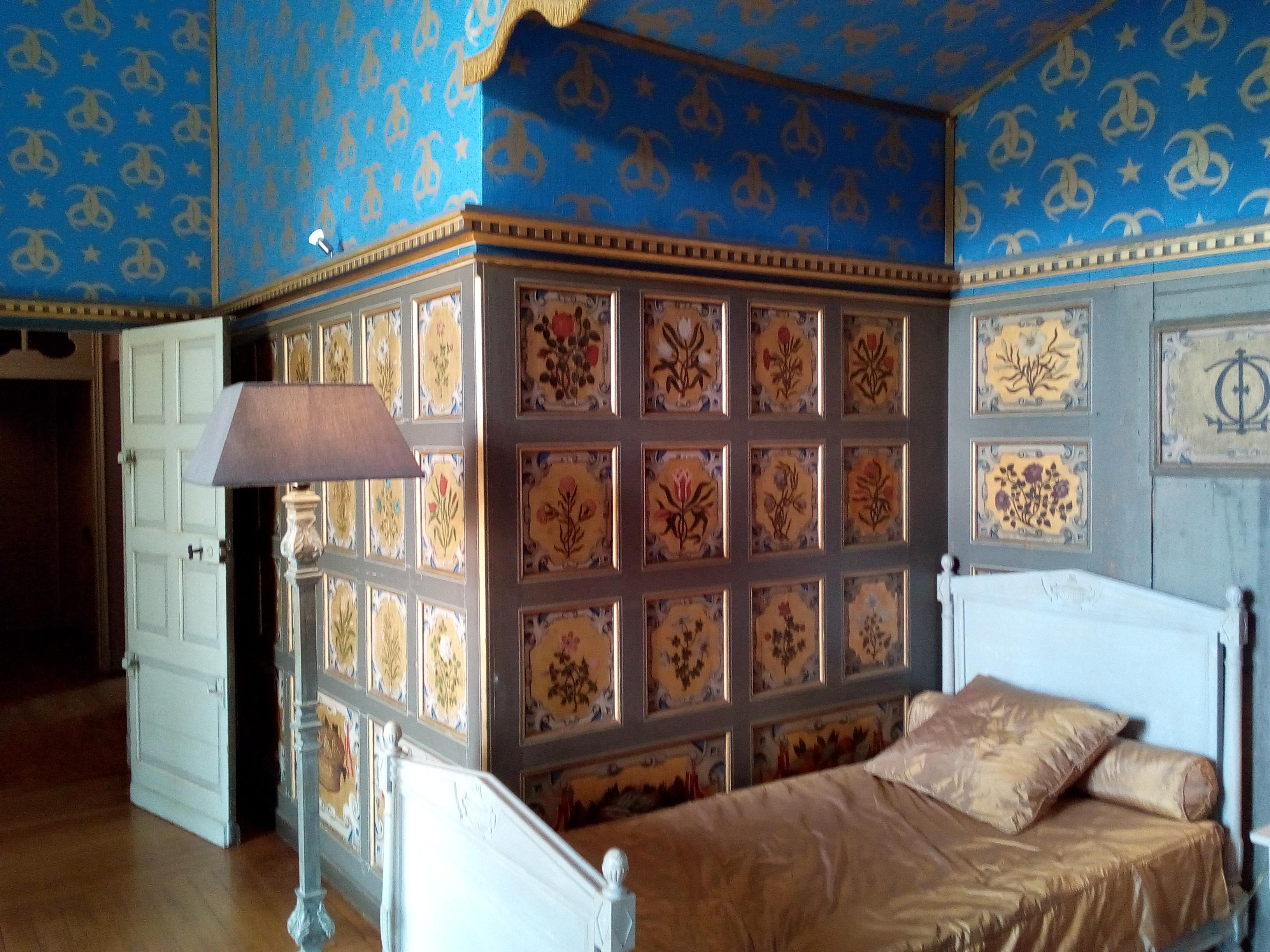 Château d'Ancy-le-Franc la Chambre des Fleurs