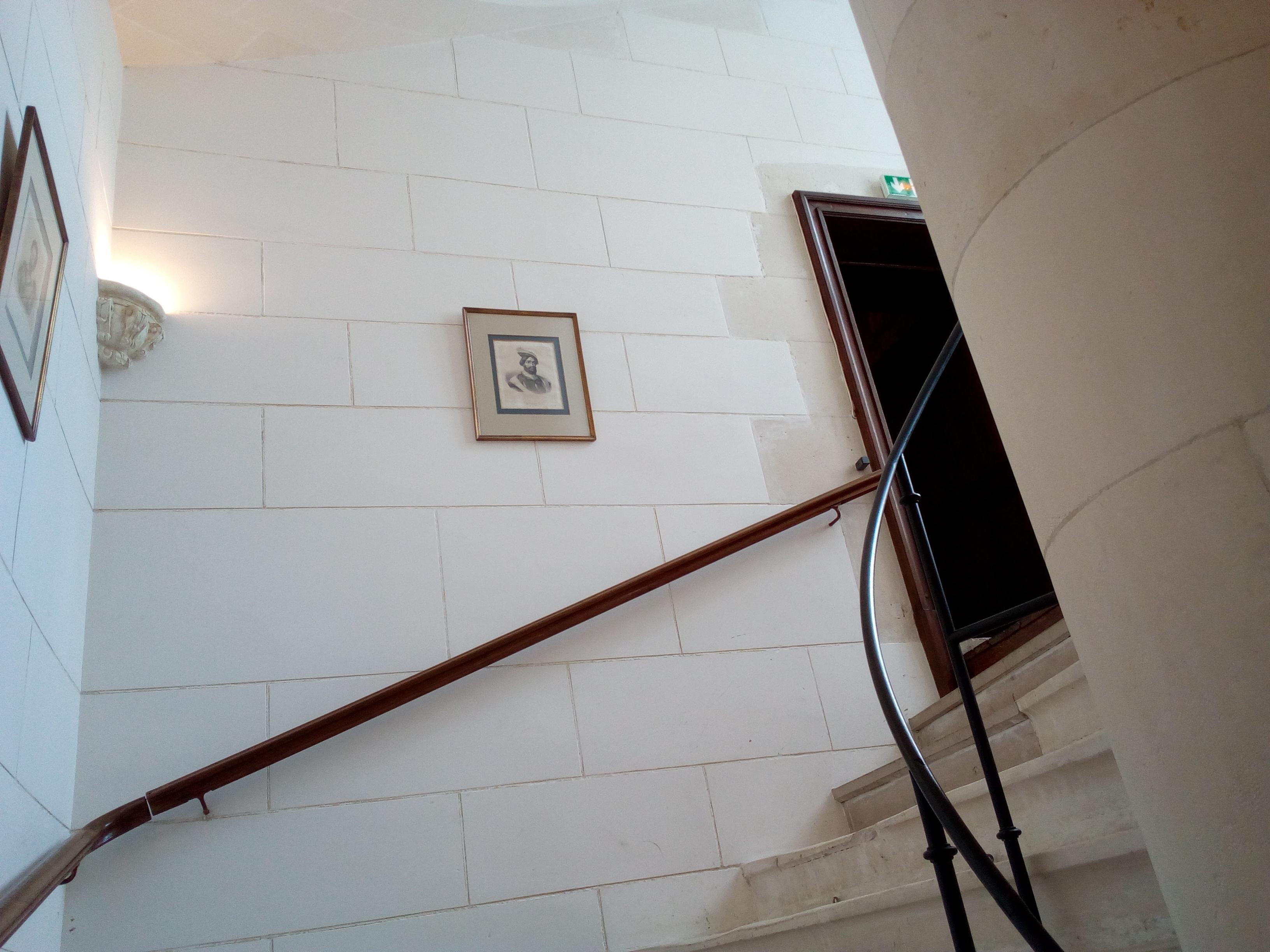 Château d'Ancy-le-Franc descente d'escalier depuis l'étage Noble