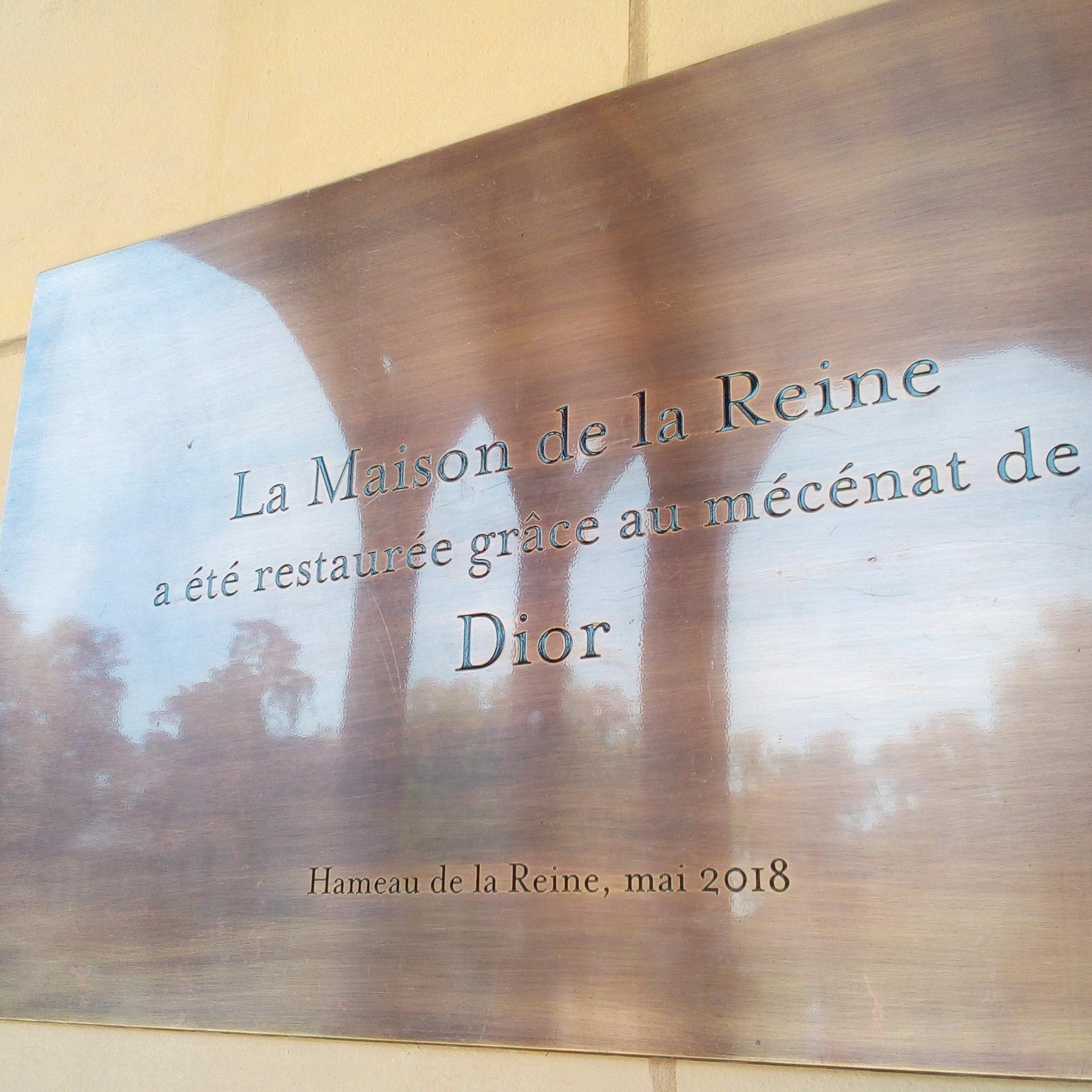 Hameau de la Reine, Maison de la reine, Mécénat Dior
