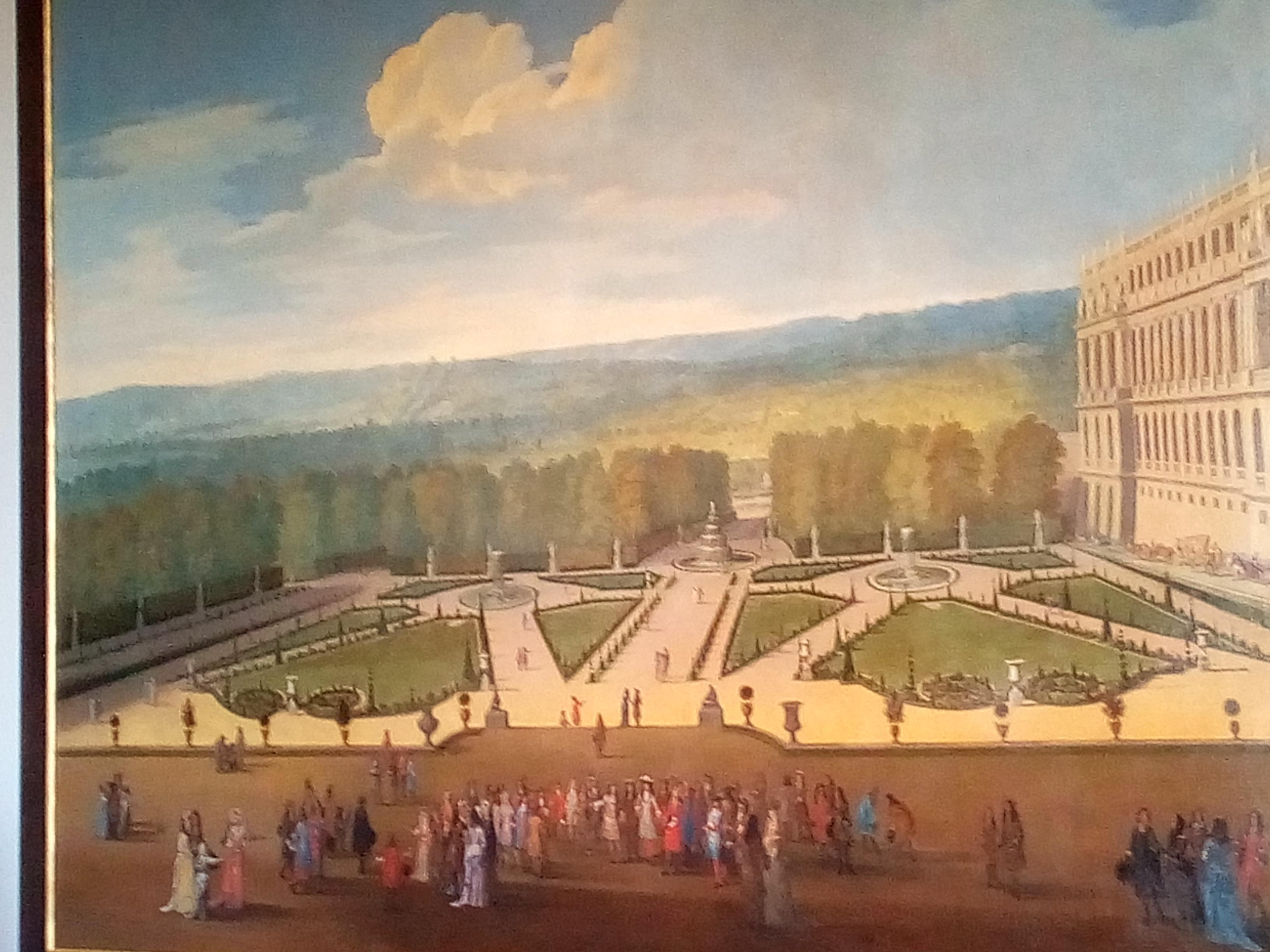 Château de Versailles, Promenade de Louis XIV en vue du Parterre du Nord, vers 1688 (Allegrain, XVIIe)