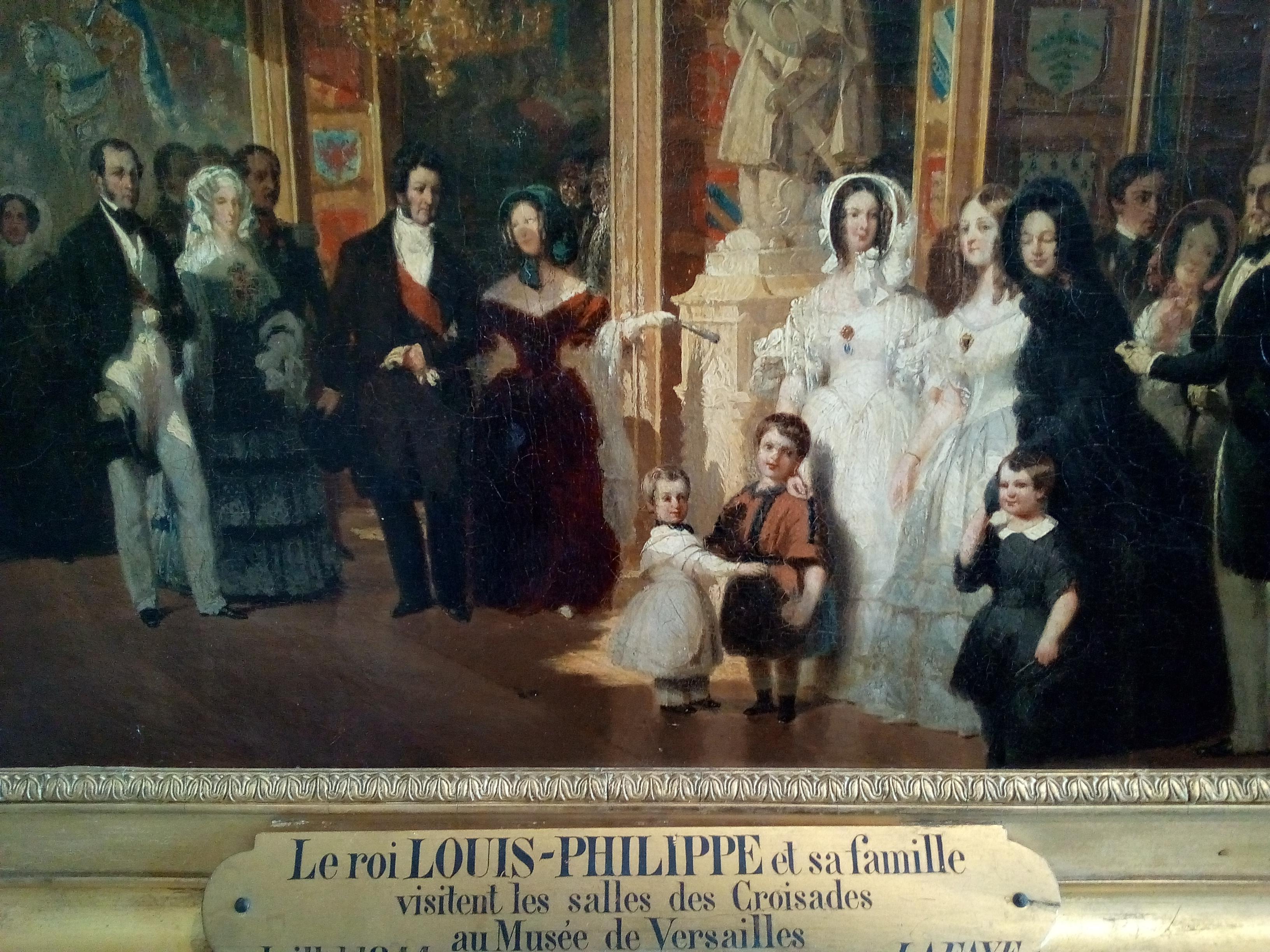 Château de Versailles, Louis-Philippe et la famille royale visitant la Salle des Croisades (Lafaye, XIXe)