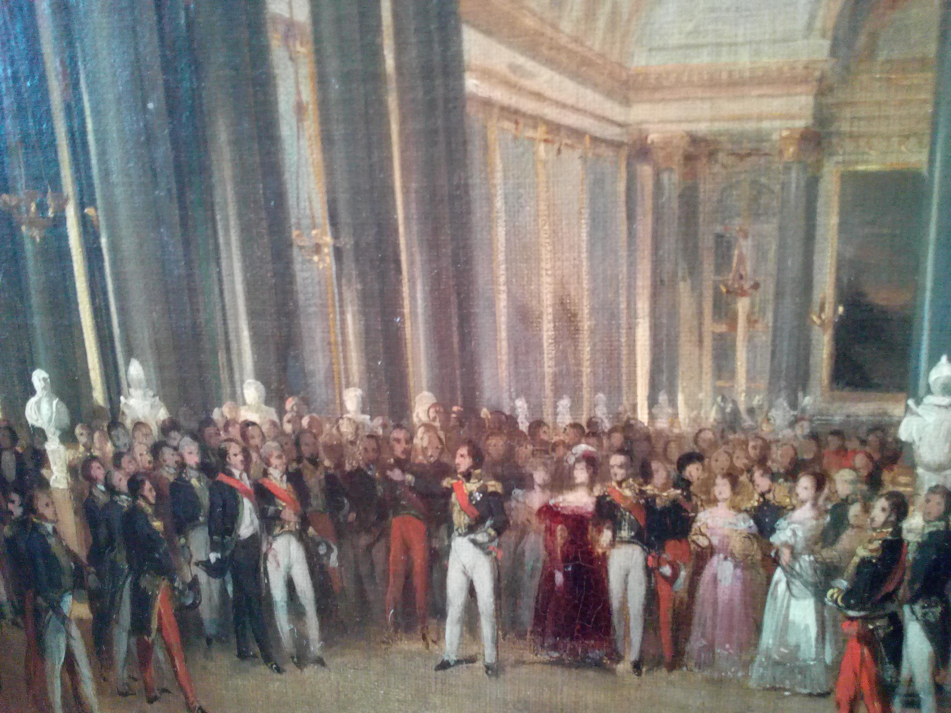 Château de Versailles, Louis-Philippe visitant la galerie des Batailles, 1837 (Heim)