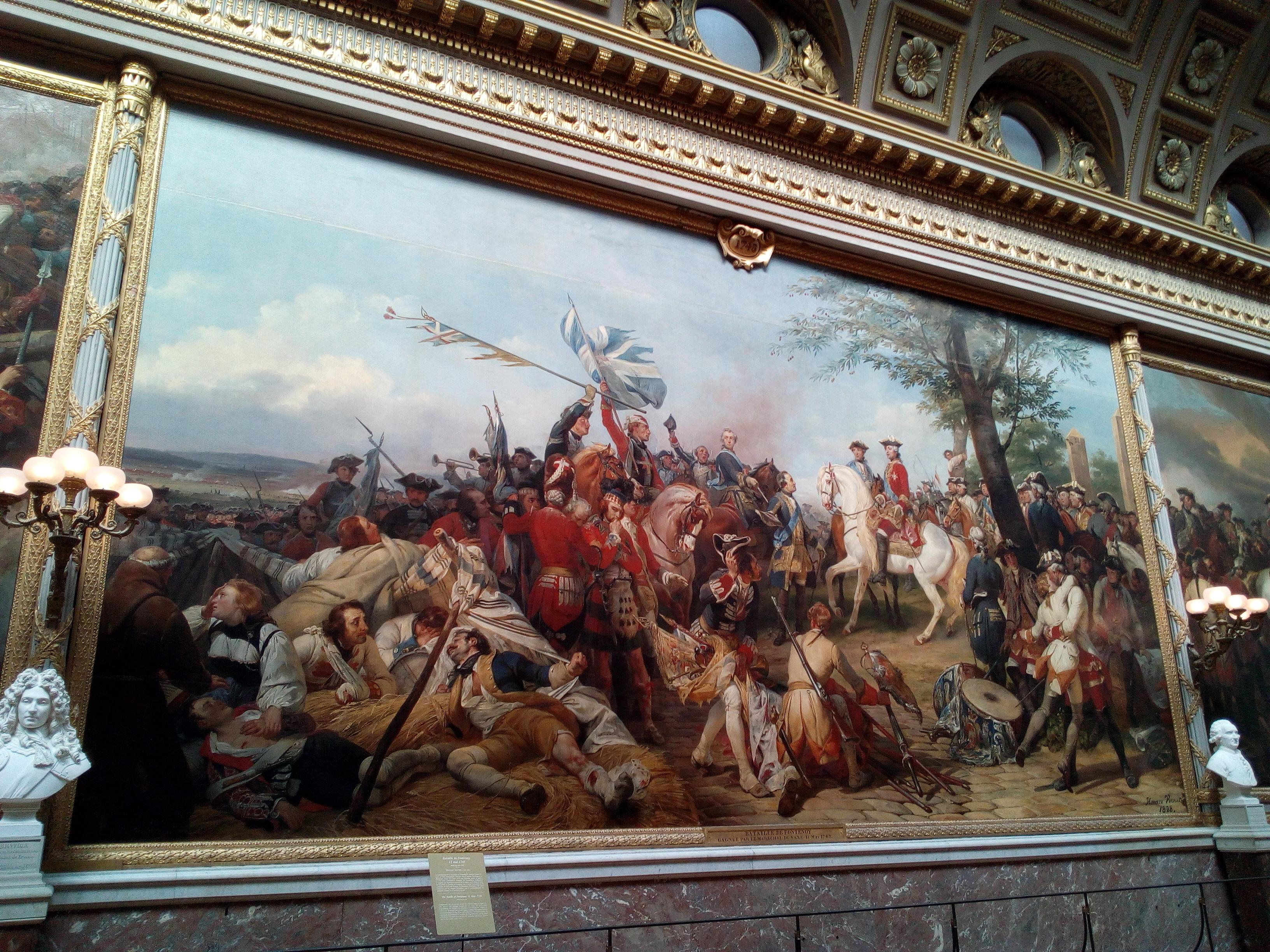 La Galerie des Batailles du château de Versailles, Bataille de Fontenoy 11 mai 1745