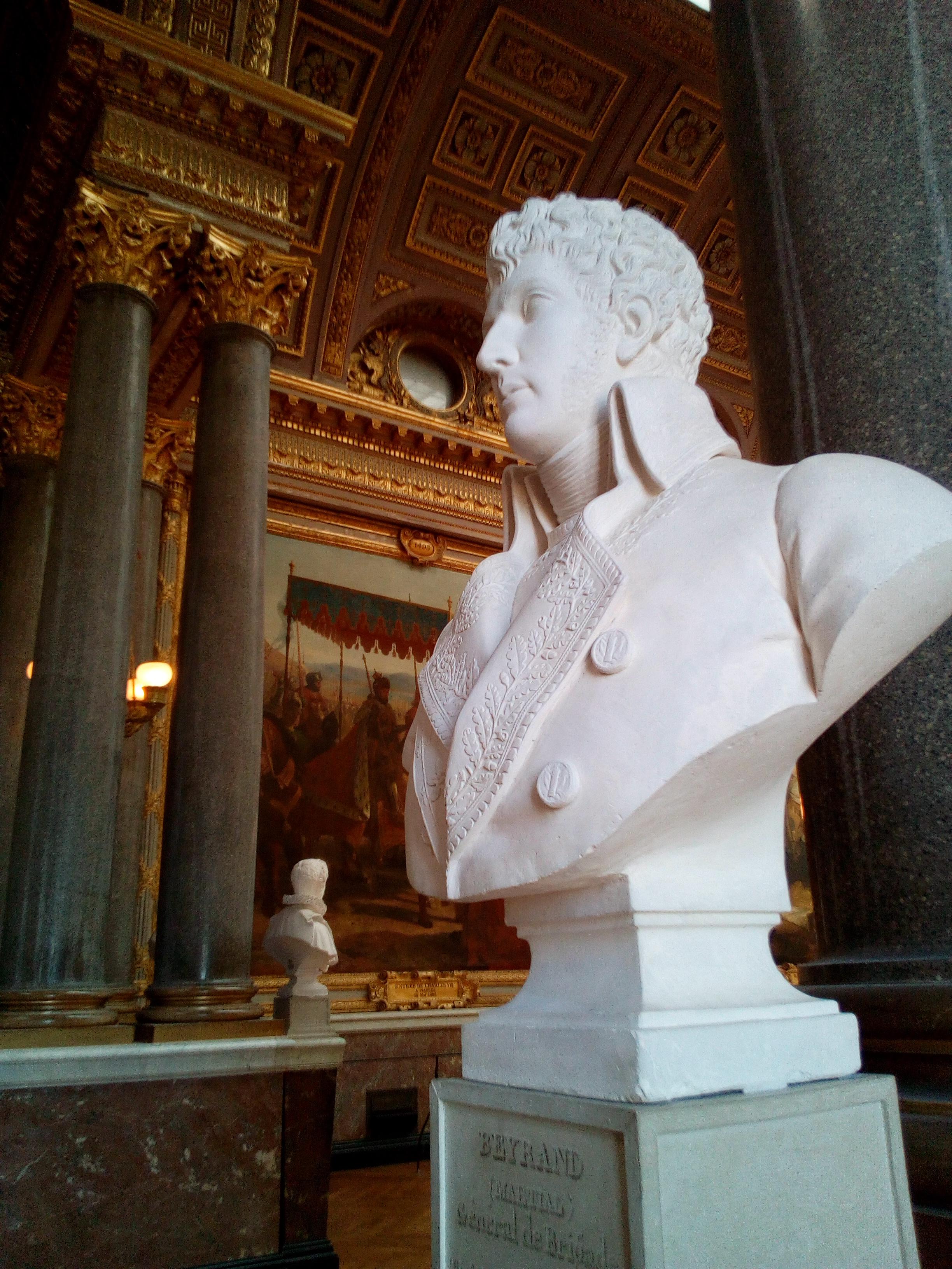 Galerie des Batailles du château de Versailles, buste de Martial Beyrand