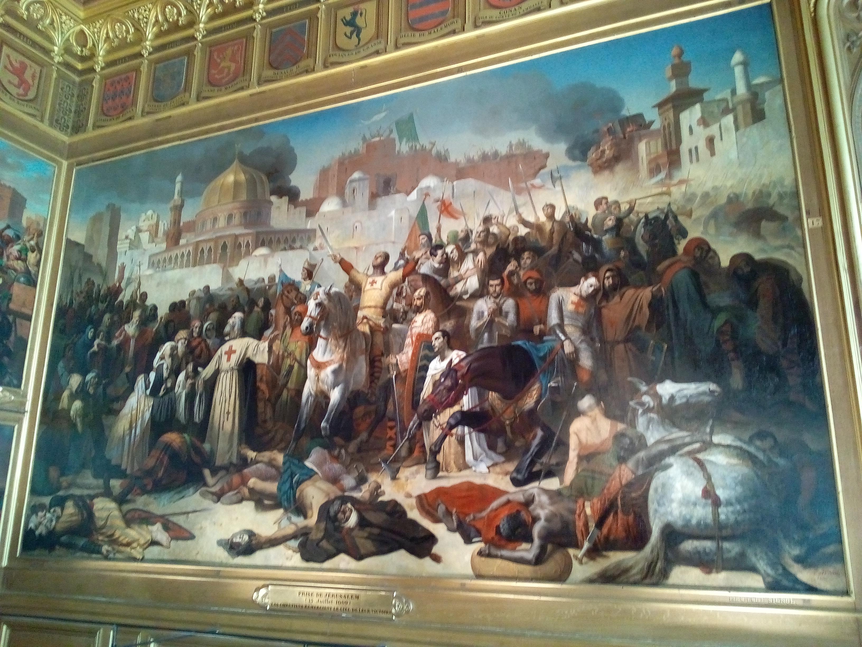 Salle des Croisades du château de Versailles, La ville de Ptolémaïs remise à Philippe-Auguste et Richard-Cœur-de-Lion, 13 juillet 1191