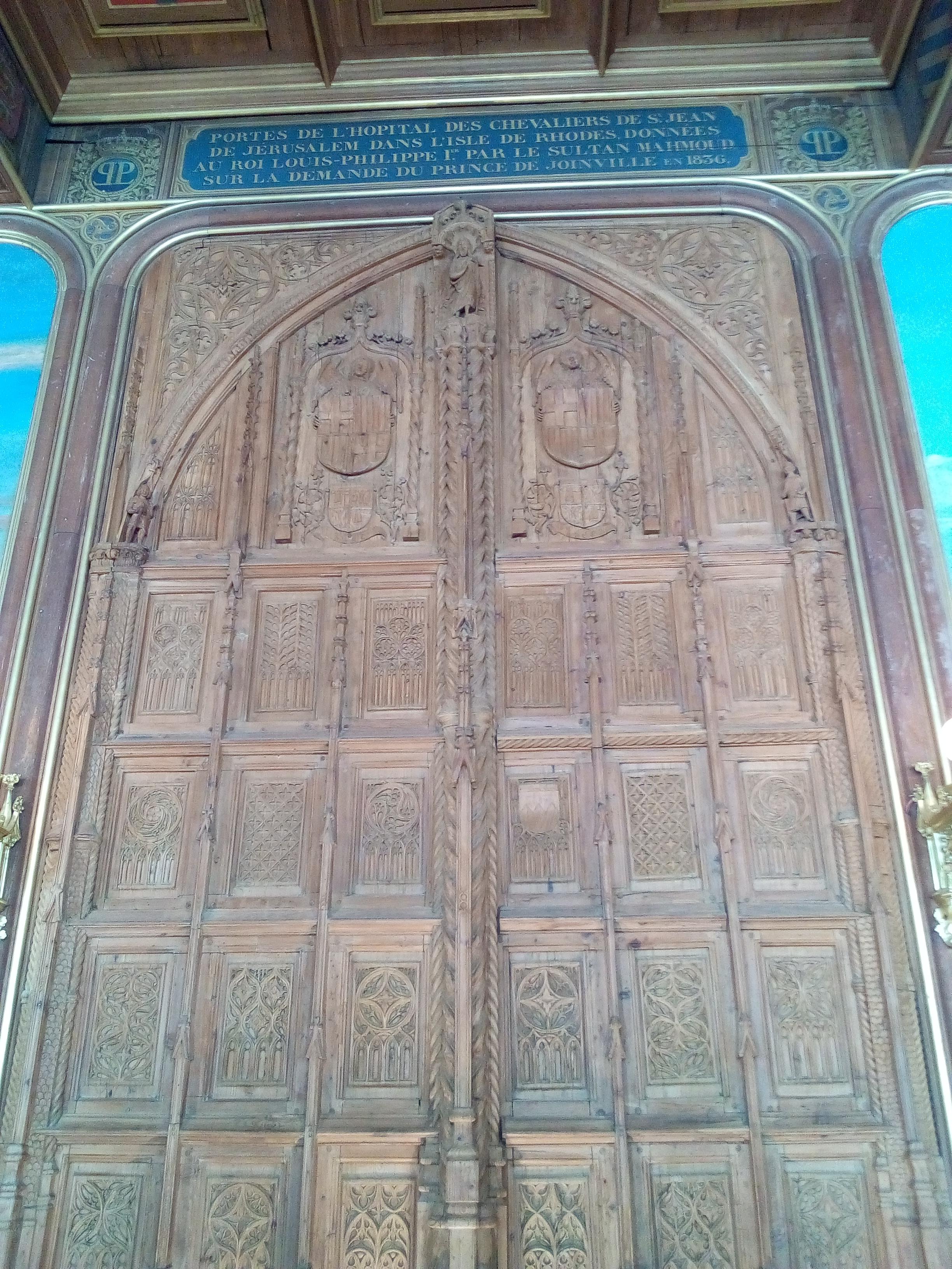 Salle des Croisades du château de Versailles, la porte de Rhodes
