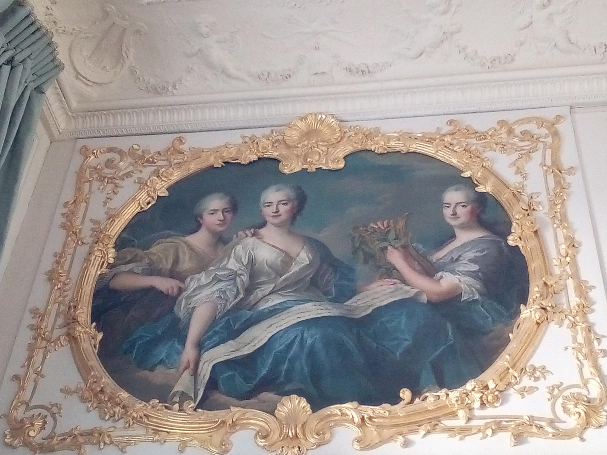 Les appartements de Mesdames au château de Versailles, Adélaide, Victoire et Sophie, par Drouais