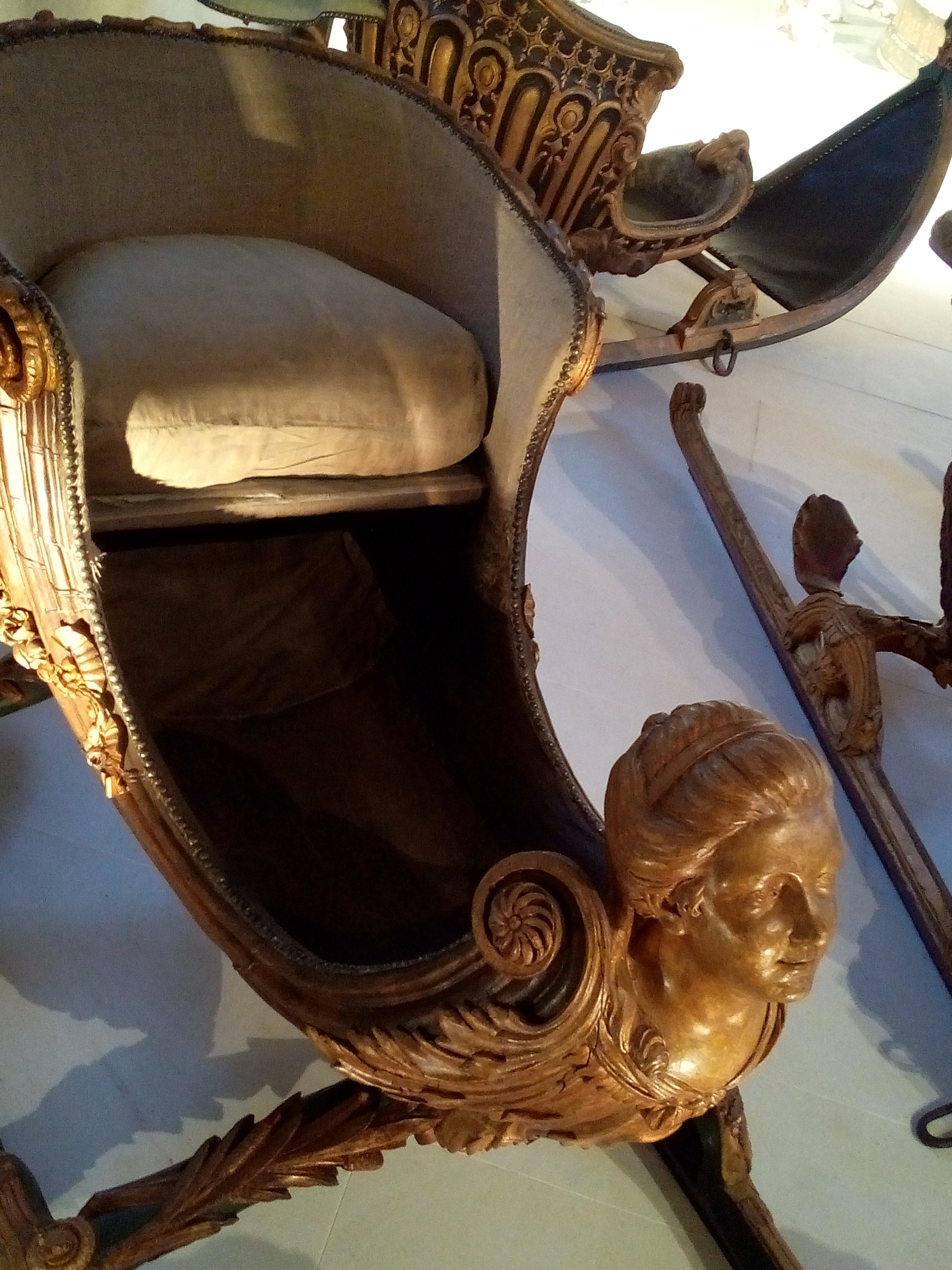 Galerie des Carrosses du château de Versailles, luge