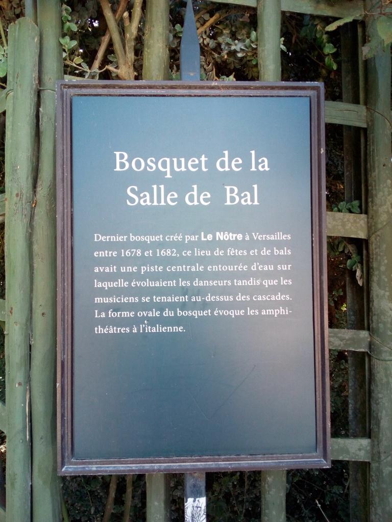 Château de Versailles, Jardins, Bosquet de la Salle de Bal