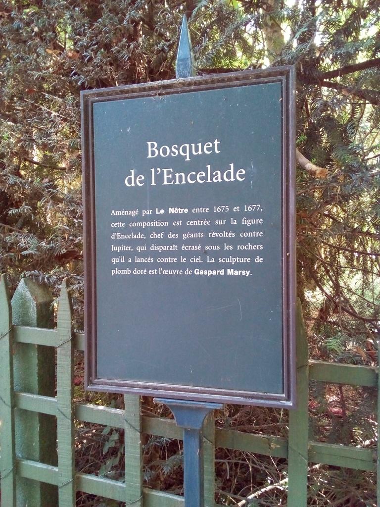 Château de Versailles, Jardins, Bosquet de l'Encelade