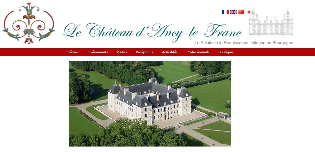 Site du château d'Ancy-le-Franc