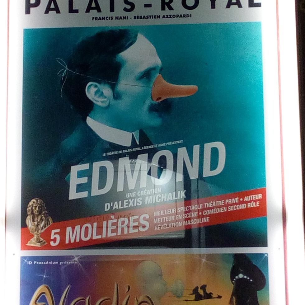 Edmond au Théâtre du Palais Royal Paris