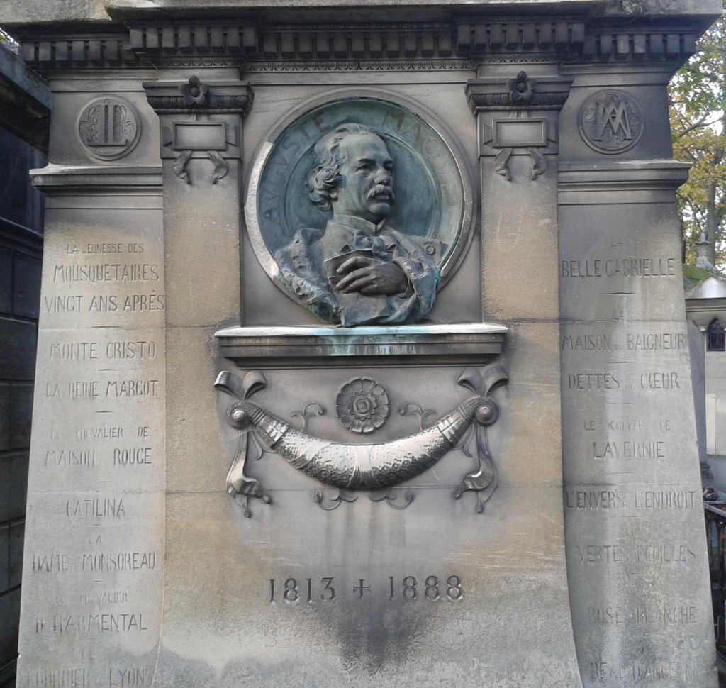 Auguste Maquet, tombe du cimetière du Père Lachaise