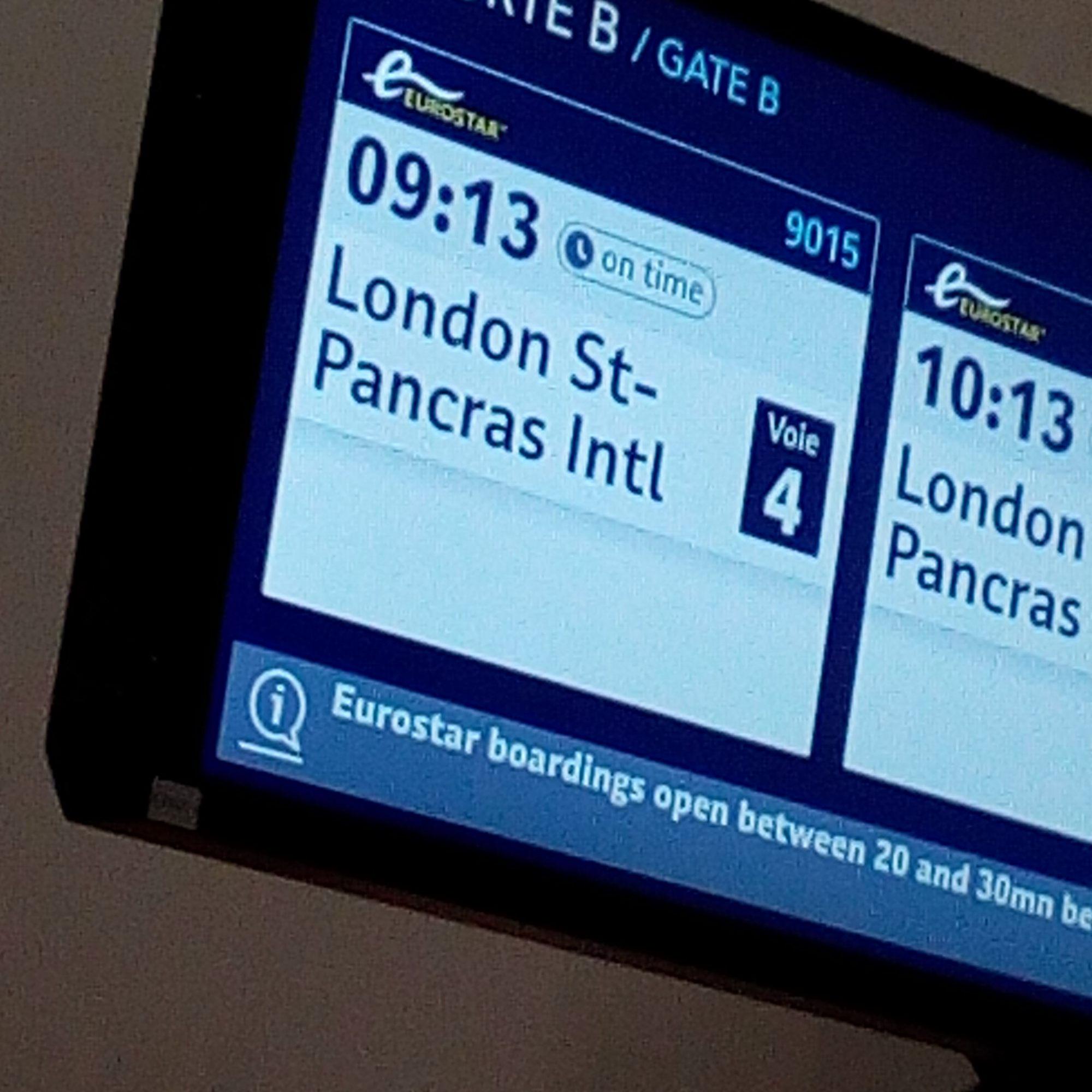 Londres, Eurostar et Saint Pancras