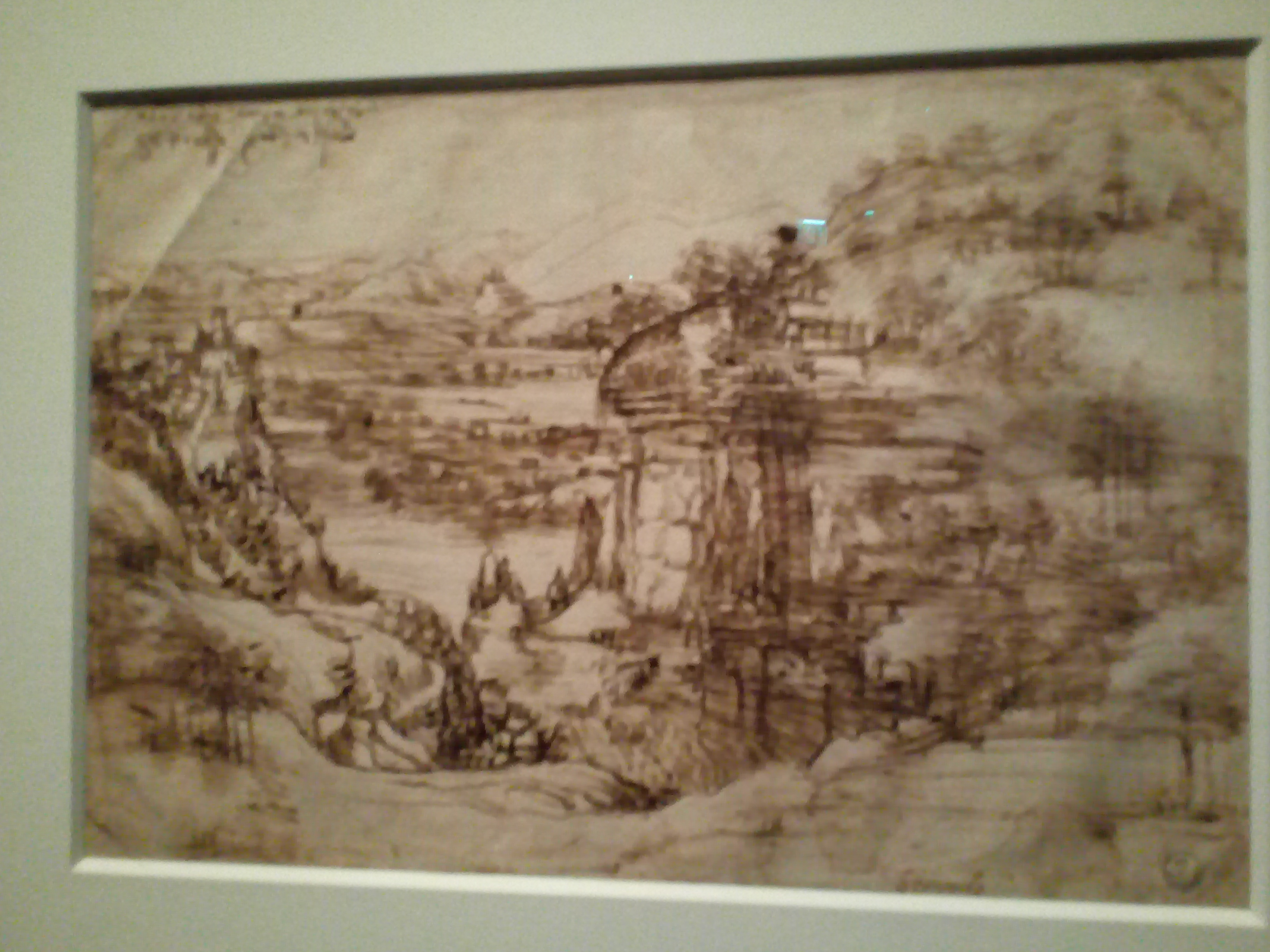 Léonard de Vinci 1452 1519 Le Louvre Paysage de la vallée de l'Arno, 1473