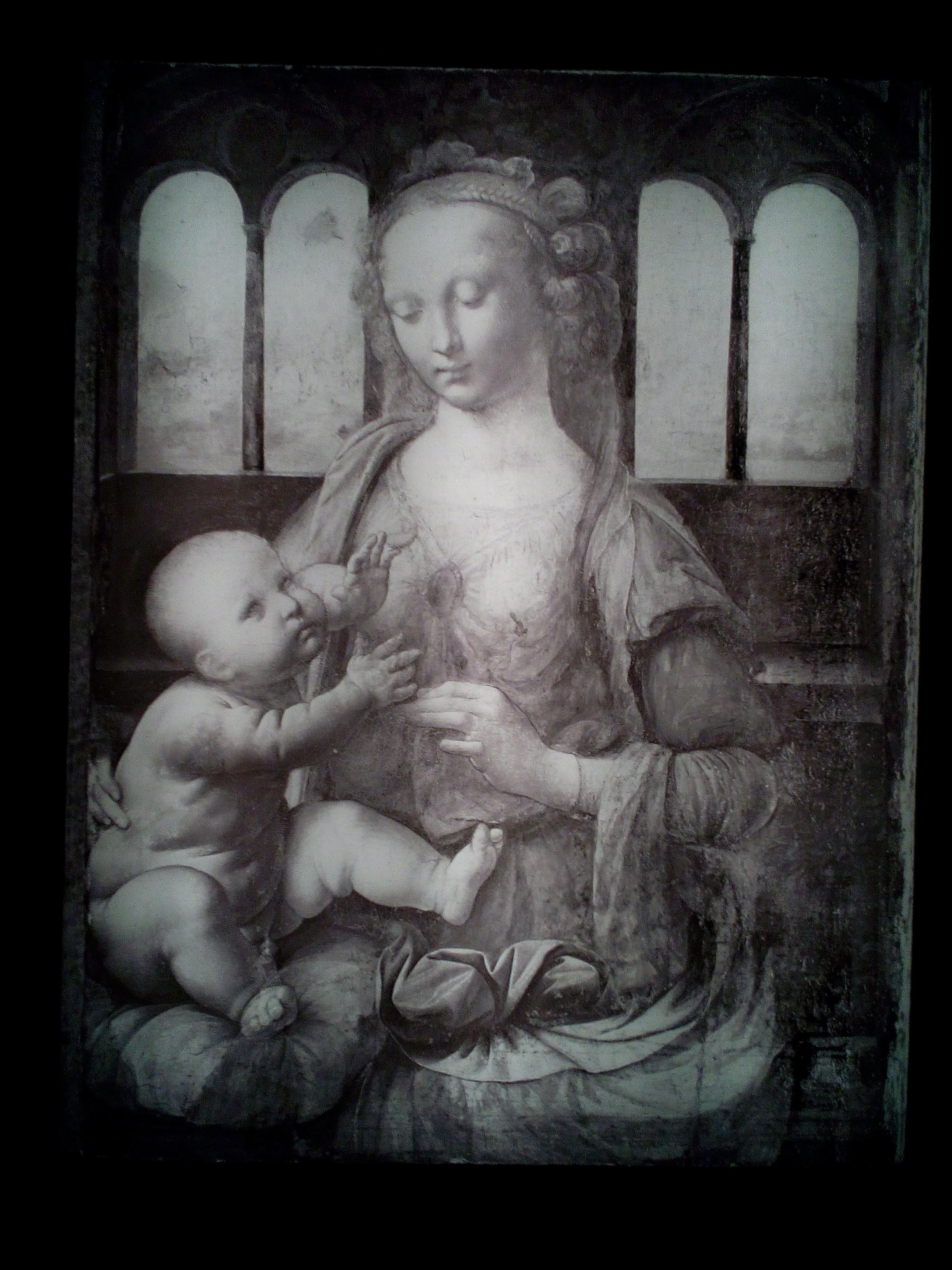 Léonard de Vinci 1452 1519 Le Louvre Madone à l'œillet 1473