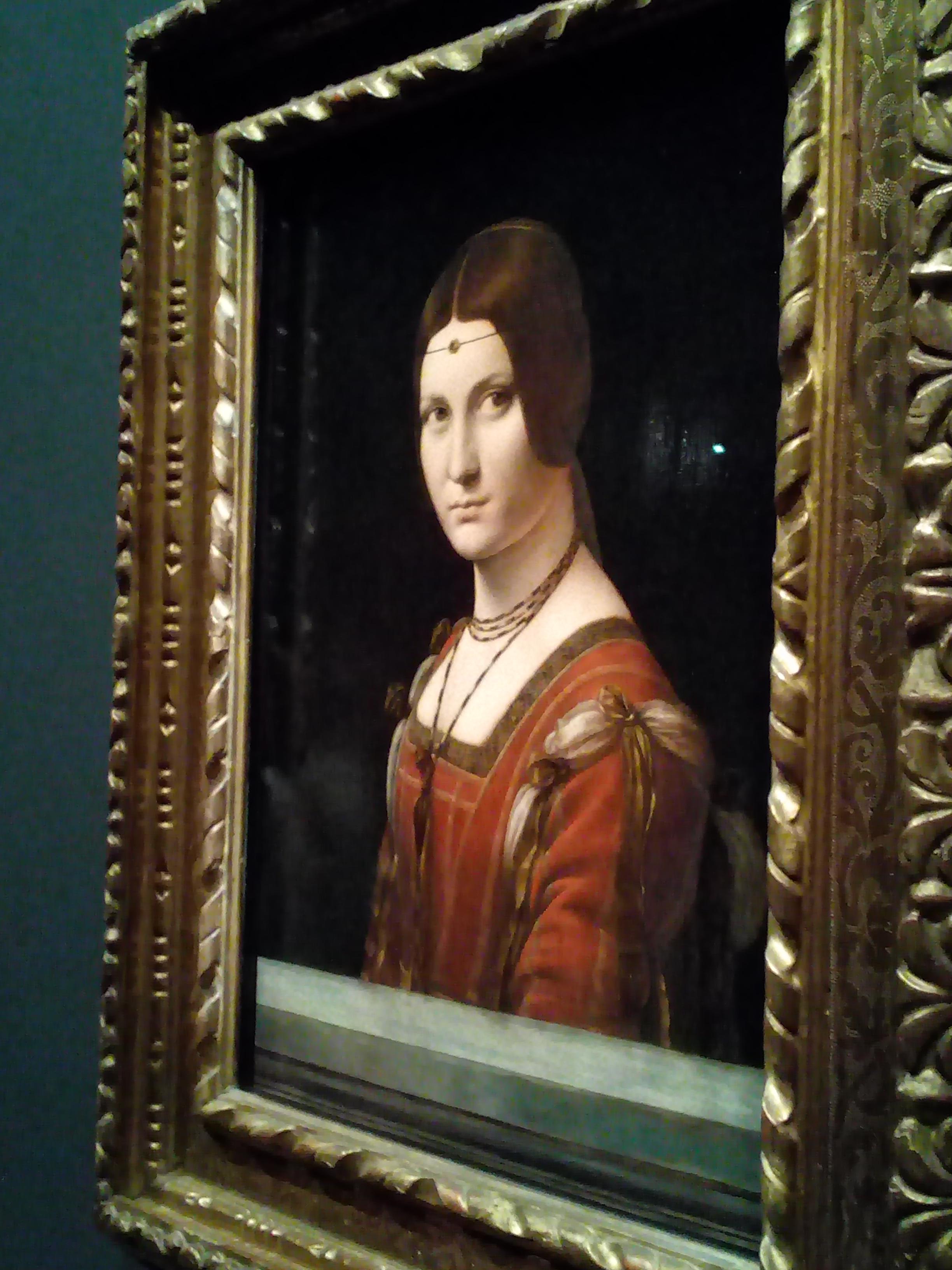 Léonard de Vinci 1452 1519 Le Louvre La Belle Ferronnière 1495-1497