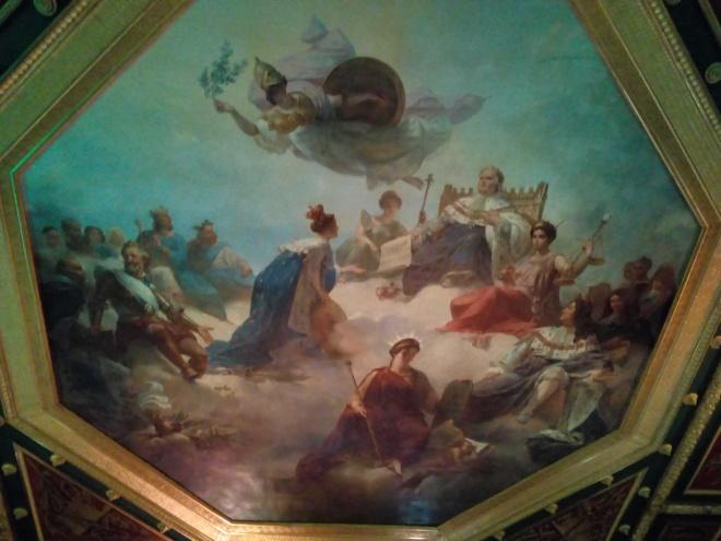 La France au milieu des rois législateurs et des jurisconsultes français, reçoit de Louis XVIII la Charte constitutionnelle Louvre