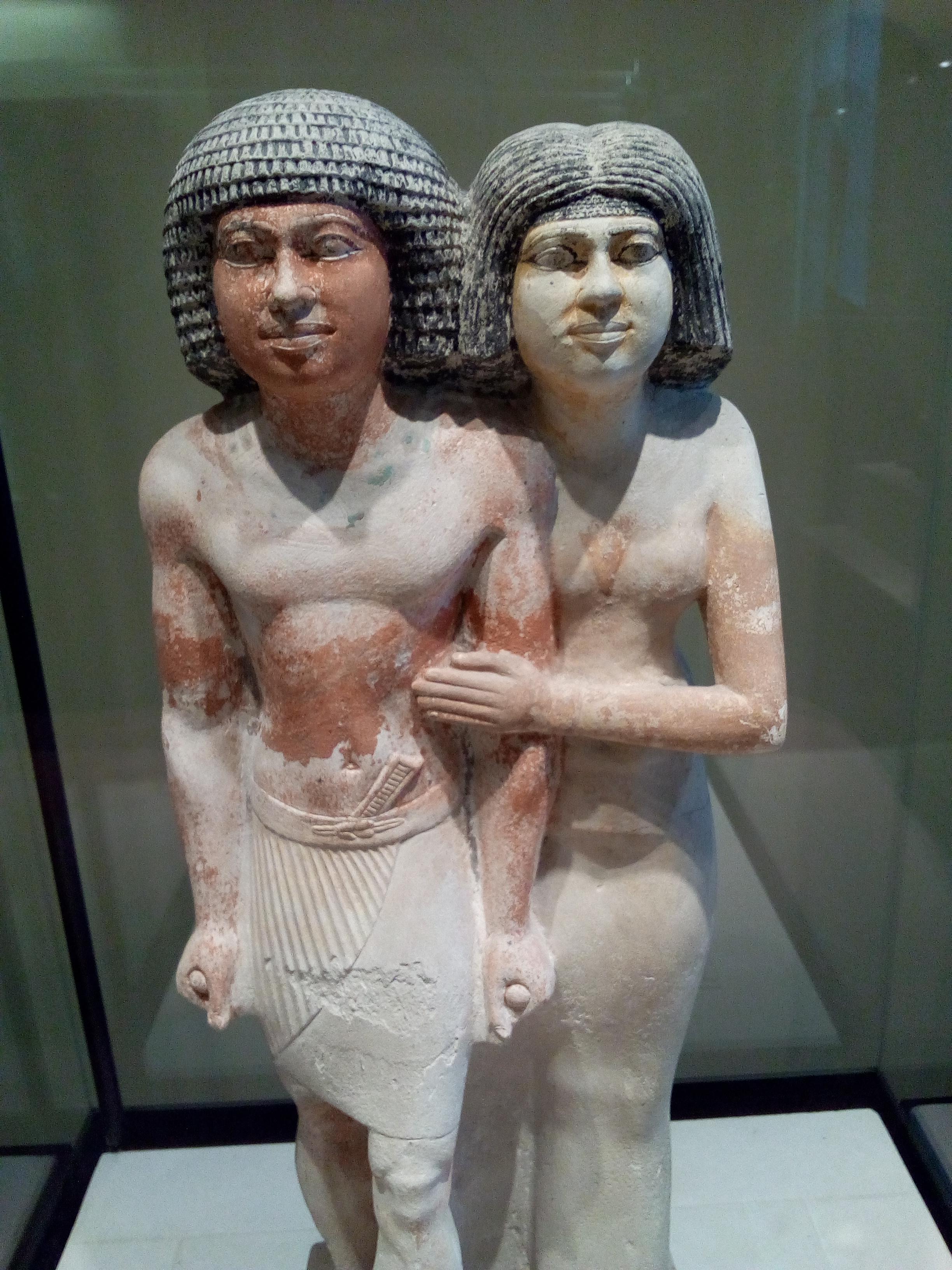 L'inspecteur des scribes Raherka et sa femme Merséânkh vers 2350 avant J.-C., (4e - 5e dynastie), musée Charles X Louvre