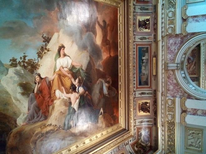 Cybèle protège contre le Vésuve les villes de Stabiae, Herculanum, Pompéi et Résina musée Charles X Louvre