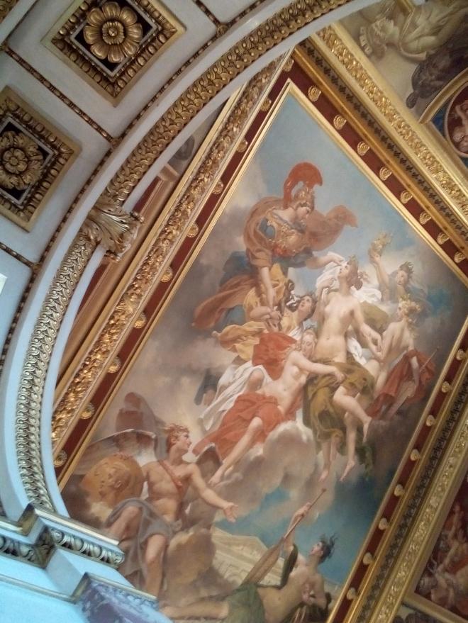 Les Nymphes de Parthénope, emportant loin de leurs rivages les Pénates, images de leurs dieux, sont conduites par la déesse des Beaux-Arts sur les bords de la Seine, musée Charles X Louvre