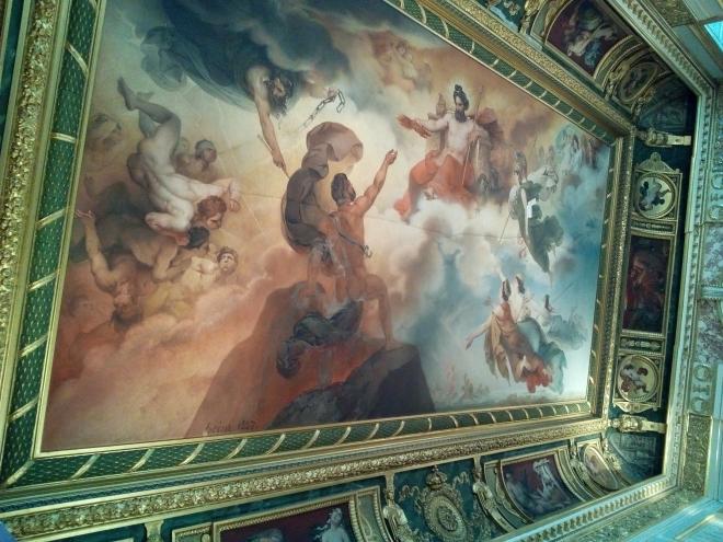 Le Vésuve personnifié reçoit de Jupiter le feu qui doit consumer les villes d'Herculanum, de Pompéi et de Stabies musée Charles X Louvre
