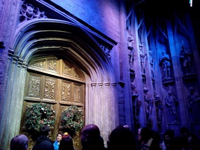 La porte d'entrée du château de Poudlard - The Making of Harry Potter - Studio Tour London