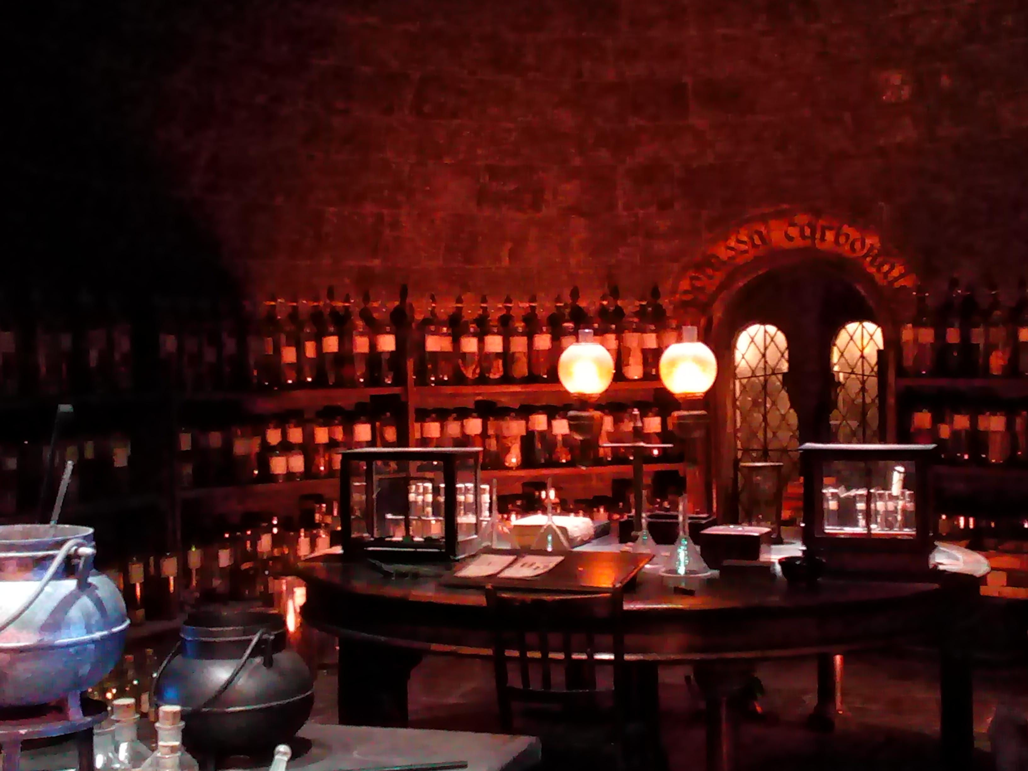 La Salle des Potions - The Making of Harry Potter - Studio Tour London