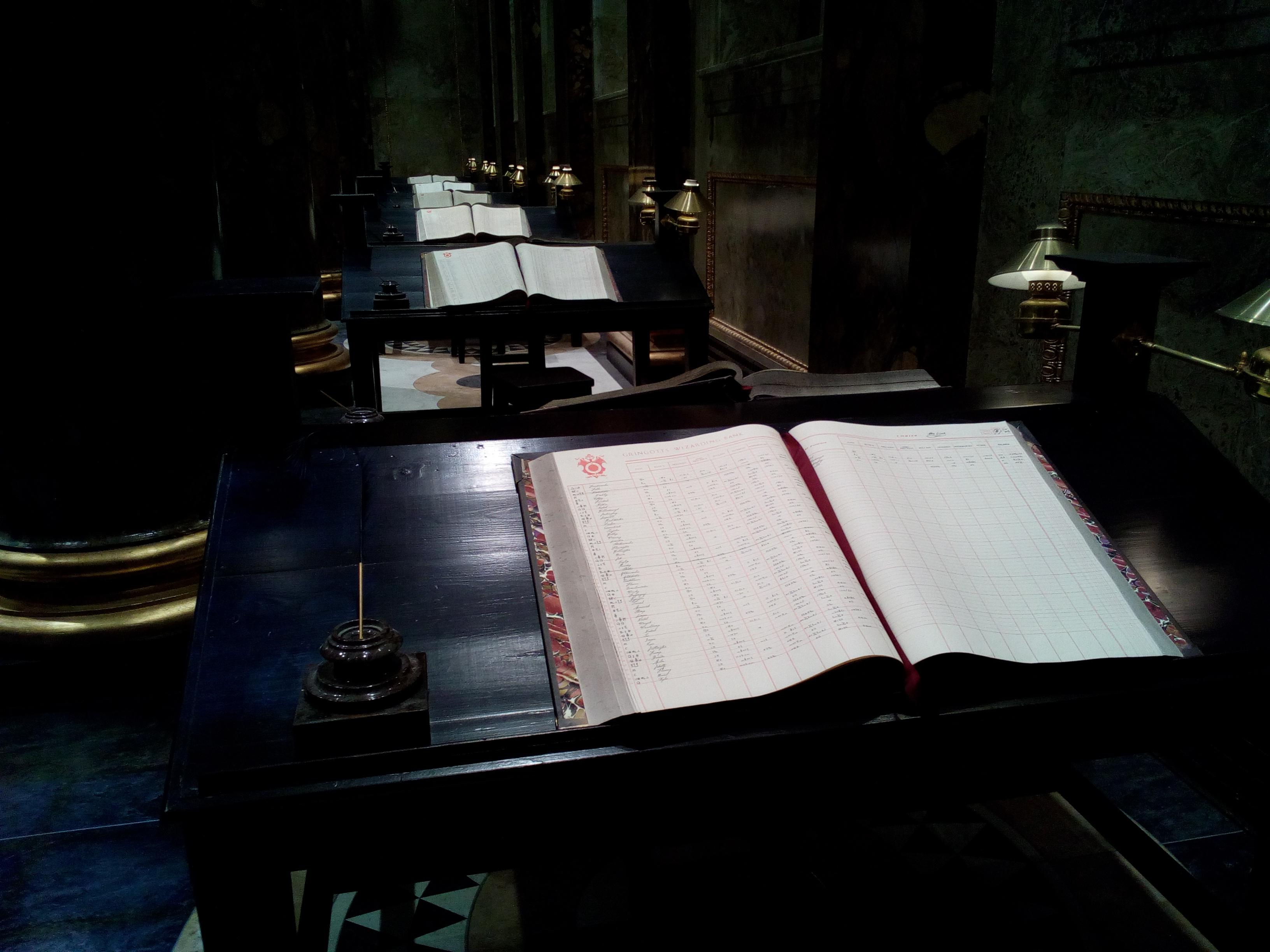 Livres de comptes de Gringotts - The Making of Harry Potter - Studio Tour London