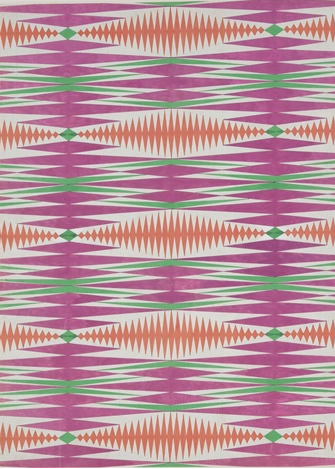 Composition cinétique, projet de tissu, Jean Burkhalter