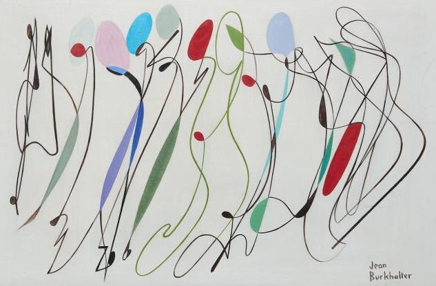 Lignes et surface, 1955, Jean Burkhalter
