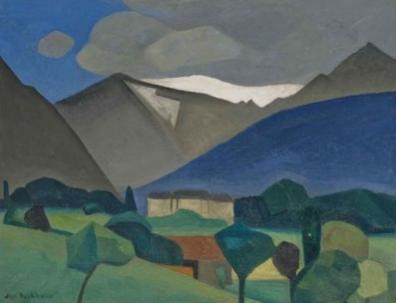 Paysage de montagne, Jean Burkhalter