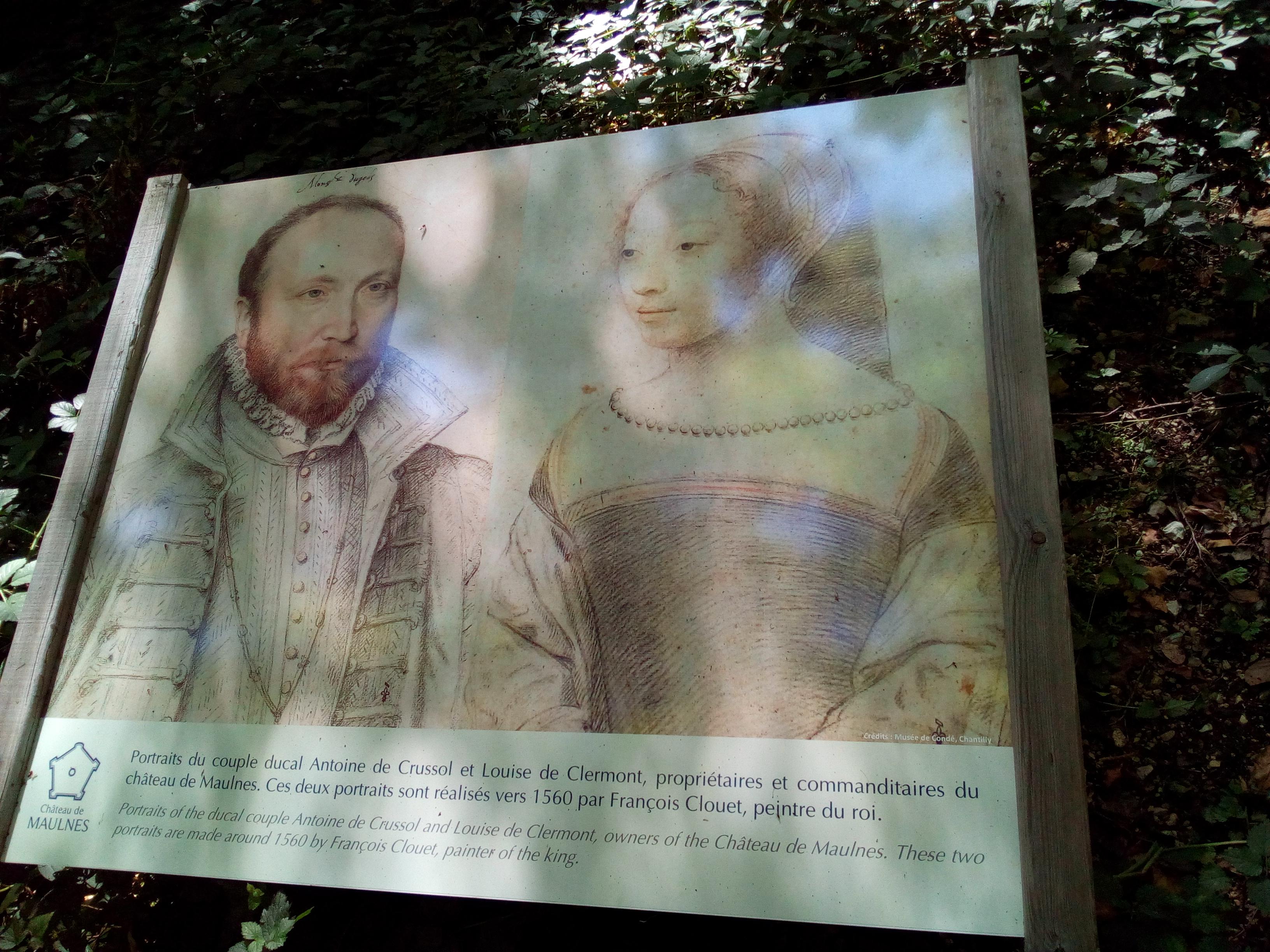 Le couple ducal du Château de Maulnes à Cruzy-le-Châtel (89)