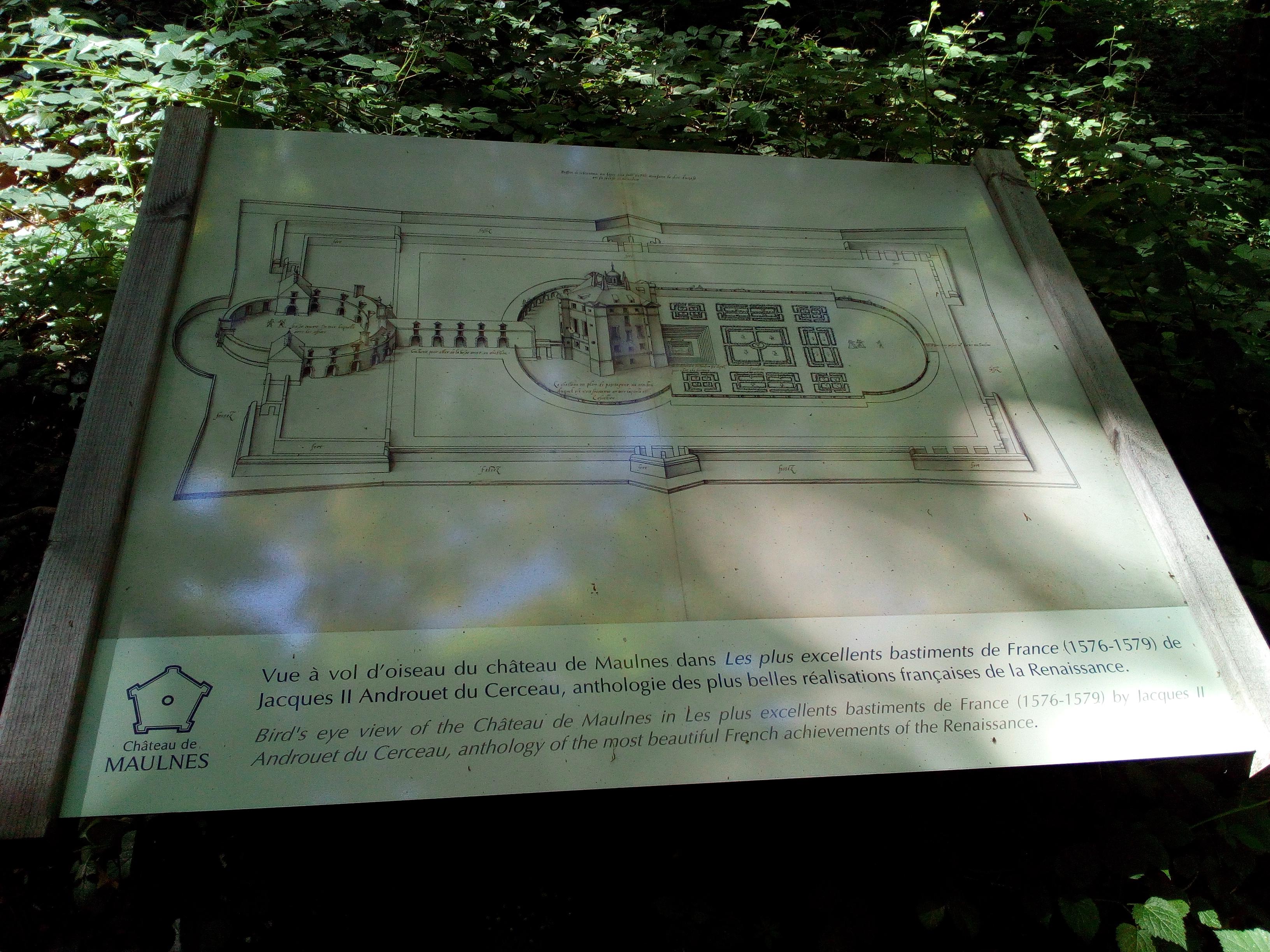 Plan du Château de Maulnes à Cruzy-le-Châtel (89)