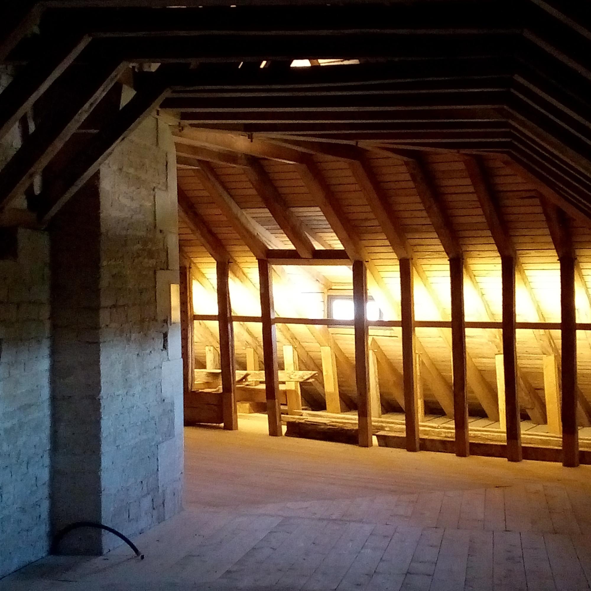 Charpente du Château de Maulnes à Cruzy-le-Châtel (89)